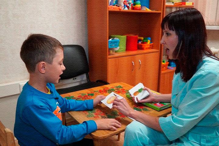 Ребенок с сенсомоторной алалией.