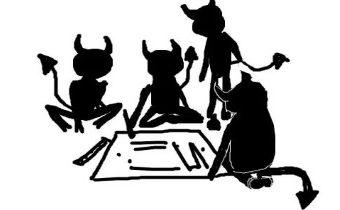 Загадка скороговорки «Четыре чёрненьких чумазеньких чертёнка»