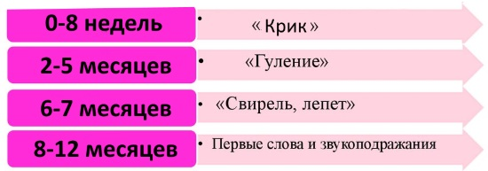 Этапы формирования речи