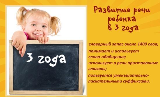Нормы развития речи ребенка в три года