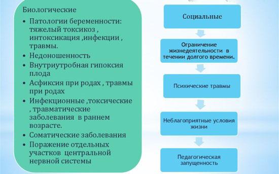 Биологические и социальные причины ЗРР